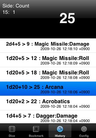 Screenshot TRPG Dices