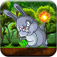 Bunny Jungle Jump & Fire Throw - Jumping Rabbit & Flying Burning Ball PRO FUN